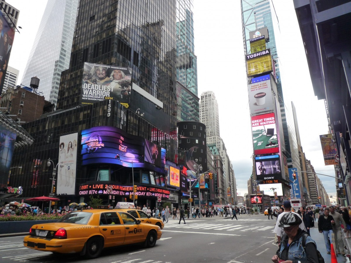 Digital billboards for advertising.